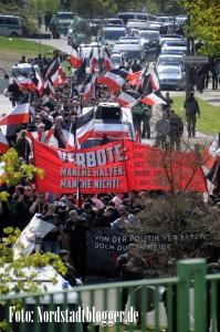 Rund 450 Neonazis kamen am 1. Mai nach Dortmund. Foto: Alex Völkel