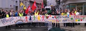 Protest gegen den Neonaziaufmarsch