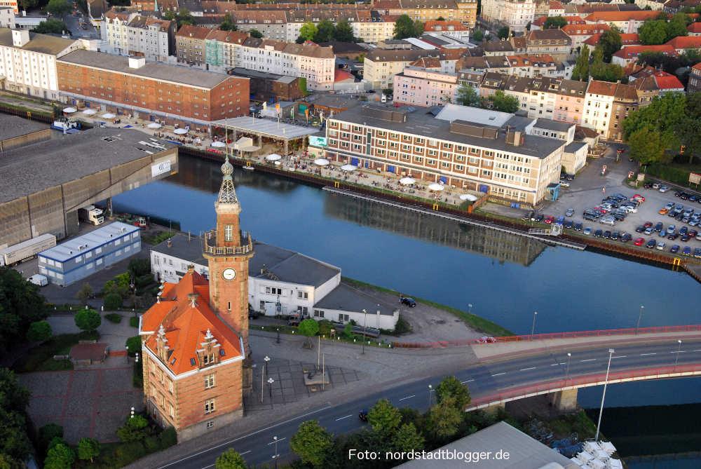 Luftbild Nordstadt mit Hafenamt
