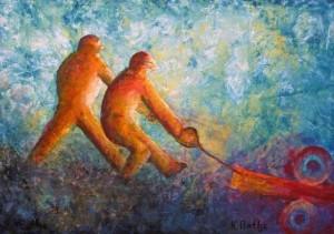 Karl Bathe - Ein Hoeschianer malt seine Arbeitswelt