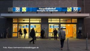 Bahnhofsumfeld Dortmund Hauptbahnhof. Fußgängerunterführung in die Innenstadt