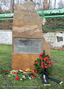 Gedenkstein für die deportierten Sint und Roma