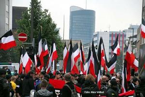 Neonaziaufmarsch zum Nationalen Antikriegstag am 31. August 2013.