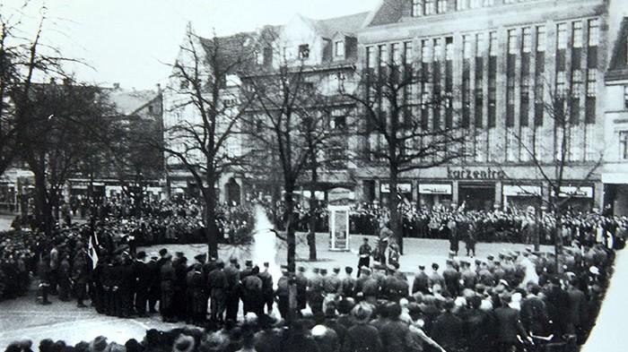 Am 30. Mai wurden Bücher in Dortmund verbrannt. Foto: Ausstellung Steinwache
