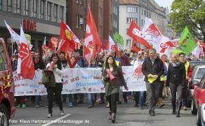 Demonstration des DGB zum 1. Mai auf der Saarlandstraße