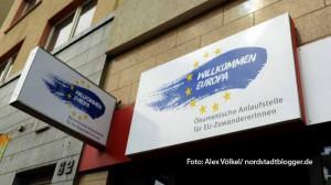 """Die Beratungsstelle """"Willkommen Europa"""" in der Bornstraße 64 ist nun offiziell geöffnet."""