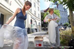 Trash Tour durch das Borsigplatzviertel mit Susanne Bosch. Teresa Grünhage von der Montag-Stiftung Kultur und Gesellschaft