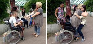 Jugendliche begleiten Senioren in Hörde. Foto: Seniorenbüro Hörde/ Diakonisches Werk