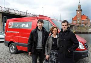 Der Hafen ist der perfekte Standort für die Günter Pauli GmbH mit Grete Pauli und ihren beiden Söhnen Marcus (li.) und Matthias. Foto: Dortmunder Hafen AG / Jürgen Appelhans