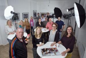 Das Projektteam des Fotobuchs: Wir Echt Nordstadt! Foto: Dietmar Wäsche