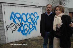 Wolfgang und Ula Richter sind bereits mehrfach Ziel von Neonzazi-Attacken gewesen.