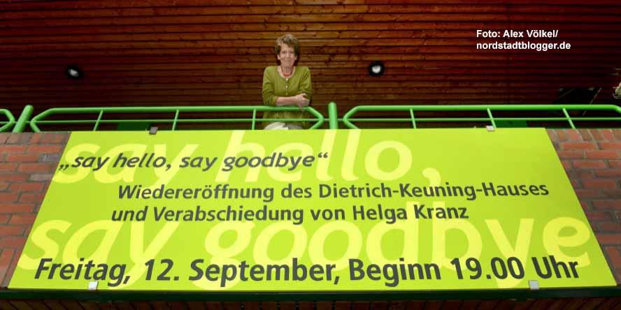 Am Freitag wird Helga Kranz, die langjährige Leiterin des Deitrich-Keuning-Hauses, verabschiedet.