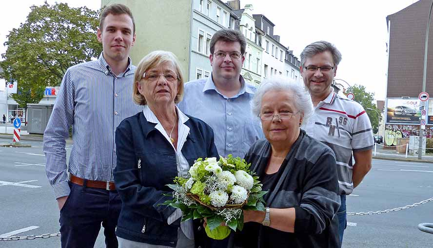 Dorian Vormweg, Rosemarie Liedschulte, Marcus Bäckerling, Gerda Horitzky und Thomas Bahr. Foto: Joachim vom Brocke