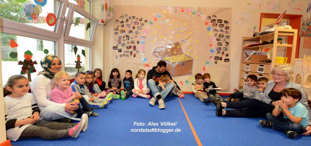 In der FABIDO-KIta Stollenstraße ist eine bilinguale Gruppe eingerichtet worden. Foto: Alex Völkel