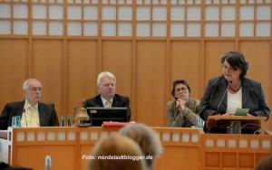 Rechtsdezernentin Diane Jägers (CDU) machte eindringlich auf die Probleme in der Erstaufnahmeeinrichtung Hacheney aufmerksam.