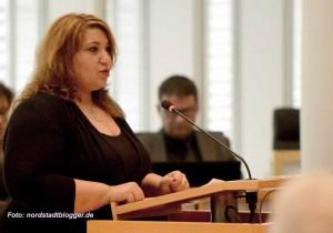 Fatma Karacakurtoglu (Linke), Ratssitzung Dortmund Oktober 2014