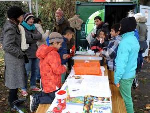Auf dem Spielplatz Düppelstraße findet ein Familienfest statt. Foto: Wolf-Dieter Blank
