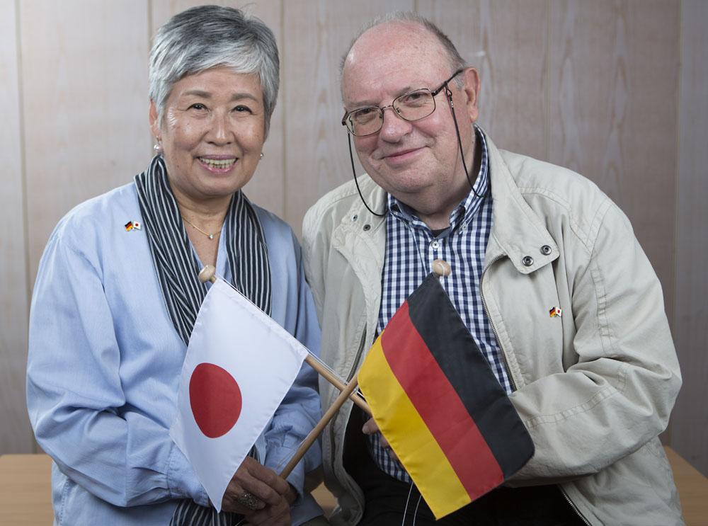 Deutsch - Japanische Gesellschaft, Yoko und Horst Schlütermann. AGNRW
