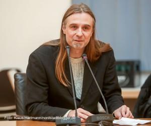 Neujahrsempfang der Fraktion Linke/Piraten im Rathaus. Fraktionsvorsitzender Utz Kowalewski, Die Linke