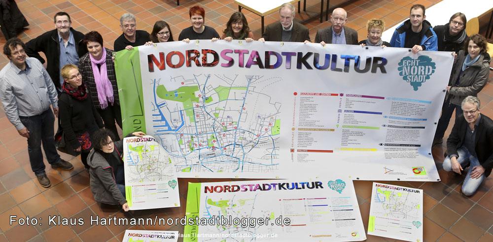 Vorstellung des Nordstadt-Kultur-Banner und Plakate
