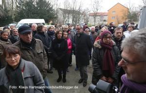 In Eving wurde der Bevölkerung die Flüchtlingsunterkunft in der ehemaligen Hauptschule vorgestellt. Das Interesse der Evinger ist groß
