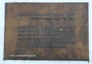 Eine Gedenktafel am Südbahnhof Dortmund erinnert an die Deportation von Juden.