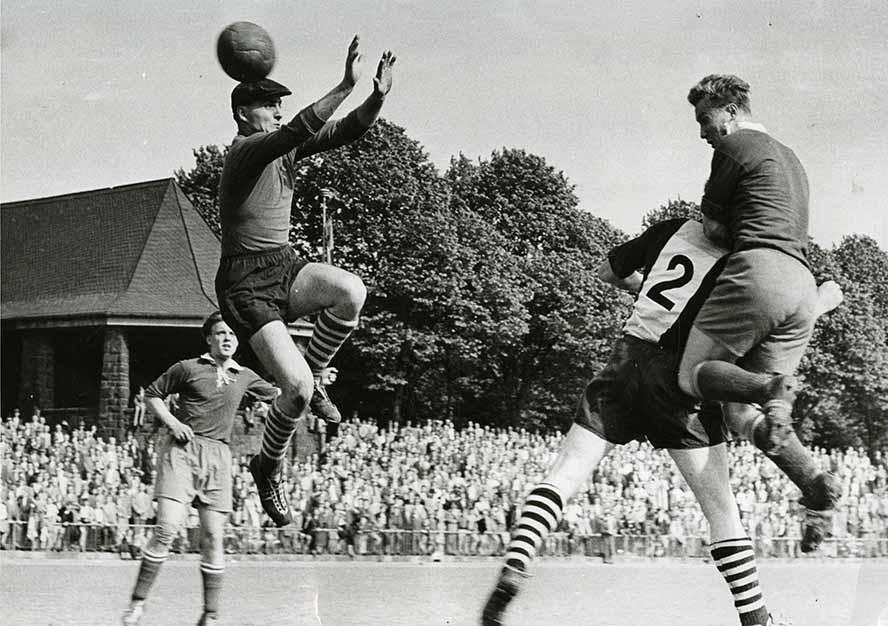 Der DSC 95 in den großen 1960er Jahren als Dortmunds Nr. 2 im Stadion Rote Erde. Foto: Archiv Kolbe/ AgGmbH