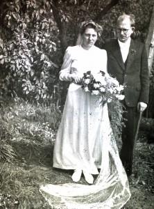 Das Hochzeitsfoto von Oma Luise und Opa Heinrich.