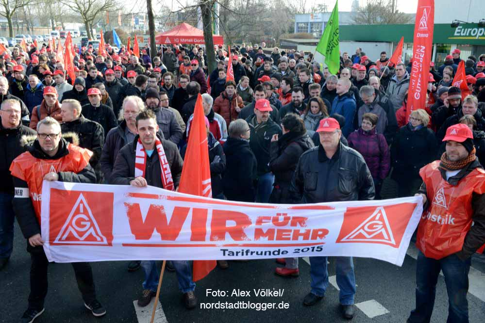 Warnstreik der IG Metall in Dortmund.