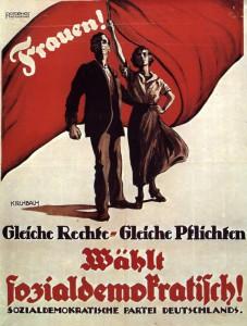 Wahlplakat der SPD zur Nationalversammlung, 1919.Foto: Friedrich-Ebert-Stiftung