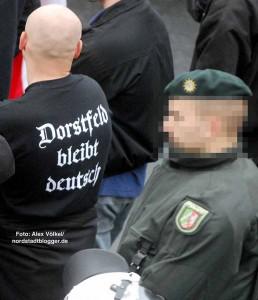 """""""Dorstfeld bleibt deutsch!"""" - die Dorstfelder Skinheads haben klare Vorstellungen. Das Bild stammt aus 2007."""