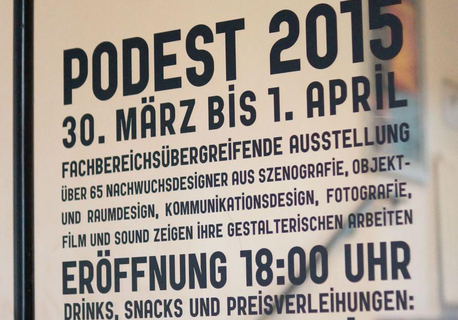 Podest 2015 eröffnet heute Abend um 18 Uhr im Fachbereich Design der Fachhochschule Dortmund