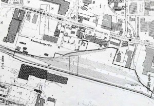 Auf der Brachflächen Nord-östlich der Ravensburger Straße soll das Werk errichtet werden.
