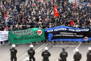"""Demonstration der Antifa zum Gedenken an Thomas """"Schmuddel"""" Schulz. Archivbild: Alex Völkel"""