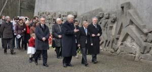 Gedenkfeier für die Karfreitagsmorde in der Bittermark. Foto: Helmut Vossgraff