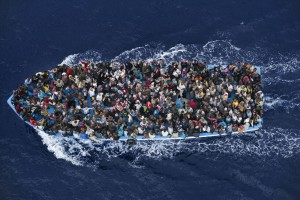 Massimo Sestini, Italy Operation Mare Nostrum – Boat refugees rescued by the Italian Navy, 7 June