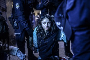 Bulent Kilic, Turkey, Agence France-Presse Girl wounded during clashes between riot police and protestors, Istanbul, 12 March