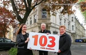 Borsig-VIPS, Führung zu unbekannten Berühmten und Mythen. v. l.: Nora Reul, Rolf Dennemann und Annette Kritzler