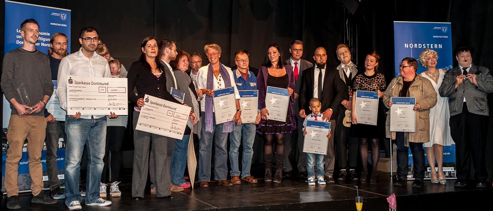Nordstadt 2014: Gruppenbild der Preisträger und Macher. Foto: Emelie Wendt