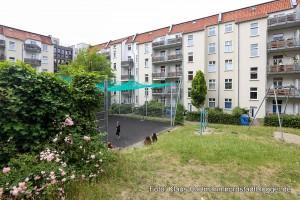 2. Nordwärts-Wanderung durch das Nordmarkt-Viertel. Im Innhof des Schüchtermann-Karrees