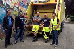 """Zum dritten Mal veranstalteten das Quartiersmanagement und die edg eine """"Sperrmüllaktion"""" im Schleswig Viertel."""