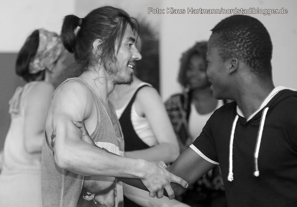 Probe des Tanz- und Theaterprojektes Sugar-Snap-Paradise