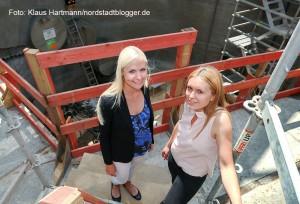 Glück auf! Tunnelpatin gibt Startschuss für Umbau und Erweiterung der Stadtbahnanlage Hauptbahnhof. Bauleitung: Maria Laaser und Milena Pyziak