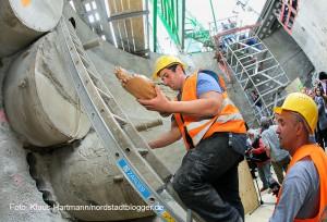 Glück auf! Tunnelpatin gibt Startschuss für Umbau und Erweiterung der Stadtbahnanlage Hauptbahnhof