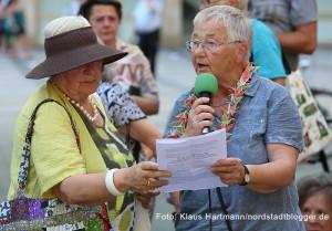 Gedenken an den Jahrestag des Atombomben-Abwurfes auf Japan vor siebzig Jahren. Ute Buckels, Christinnen und Christen für den Frieden