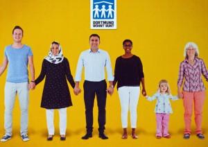 Dortmund wohnt bunt heißt die Kampagne der Wohnungsgesellschaften.