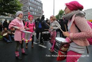 Protest gegen Nazihetze auf der Kampstraße und am Westentor