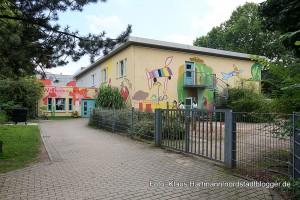 Die Kindertagesstätte gegenüber des Dietrich-Keuning-Haus