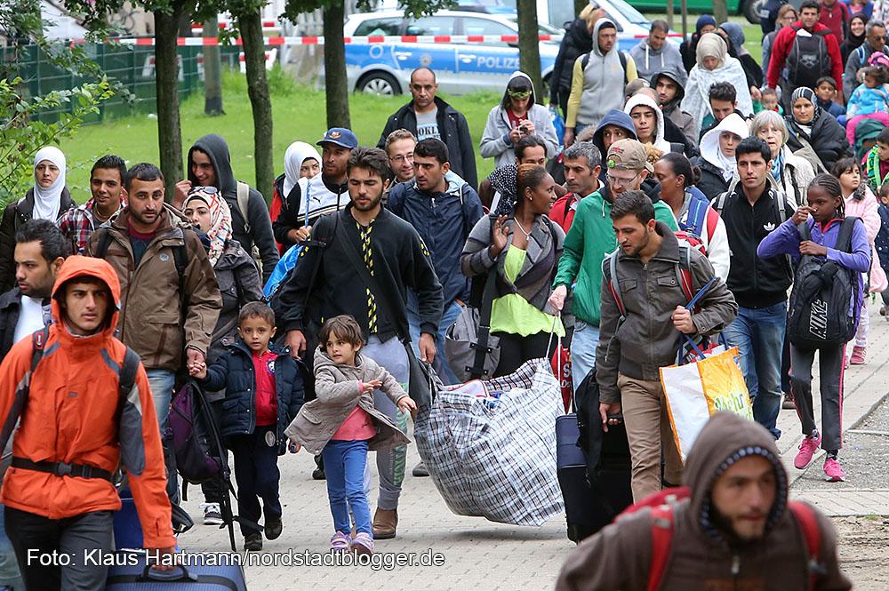 Die Flüchtlinge sind in Dortmund angekommen
