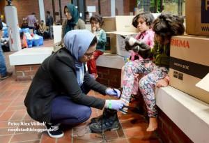 Vor allem für Flüchtlings-Kinder gab es Kleidung und Spielzeug.